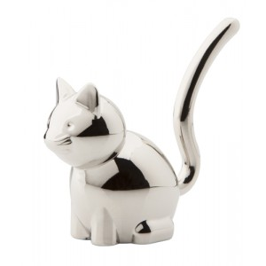 """Stojánek na prstýnky """"kočka"""", stříbrná"""