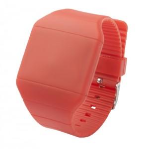 LED hodinky, červená