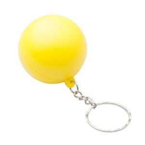 Antistresový přívěšek na klíče, žlutá