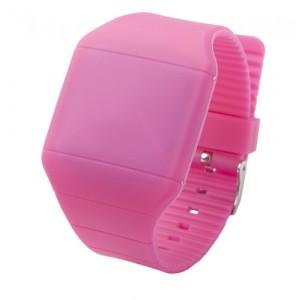 LED hodinky, růžová