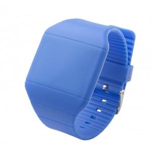LED hodinky, královská modrá