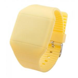 LED hodinky, žlutá