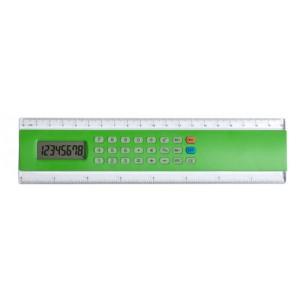 Kalkulačka s pravítkem, zelená