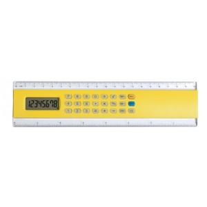 Kalkulačka s pravítkem, žlutá