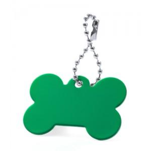 Přívěšek psí známka, zelená