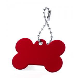 Přívěšek psí známka, červená