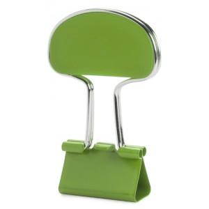 Klip na poznámky, zelená