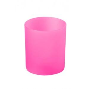Svíčka se světlem, růžová