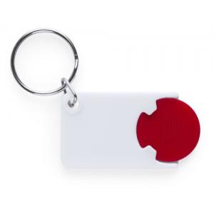 Klíčenka se žetonem, červená