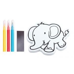 """Vybarvovací magnet na ledničku """"slon"""""""