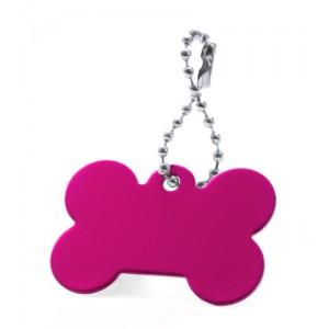 Přívěšek psí známka, růžová