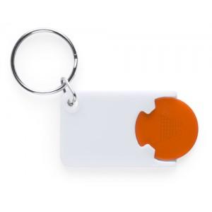 Klíčenka se žetonem, oranžová
