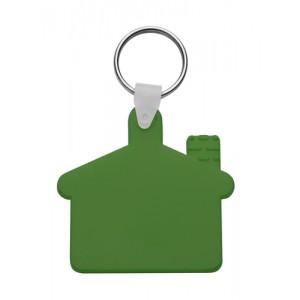 Plastová klíčenka, zelená