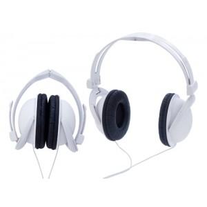 Skládací sluchátka, bílá