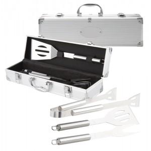 BBQ set, stříbrná