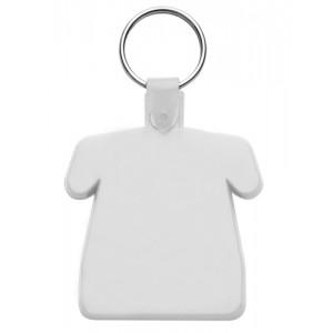 Plastová klíčenka, bílá