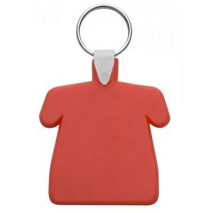 Plastová klíčenka, červená