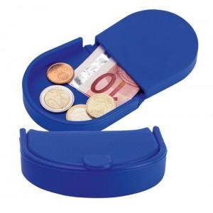 Silikonová peněženka na mince, královská modrá