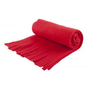 Fleecový šátek, červená