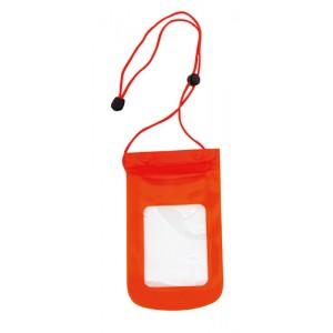 Voděodolné pouzdro na mobil, červená