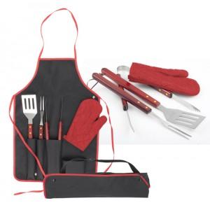 BBQ set, červená
