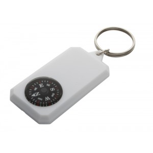 Klíčenka s kompasem, bílá