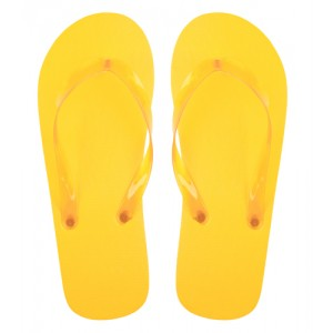 Plážové pantofle, žlutá