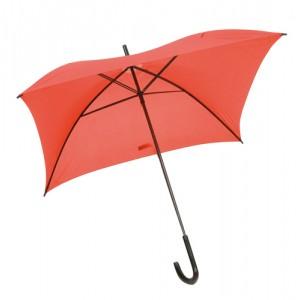 Čtvercový deštník, červená