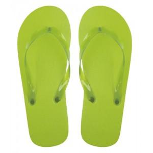 Plážové pantofle, světle zelená