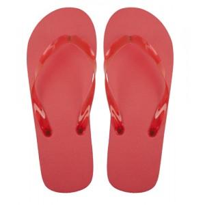 Plážové pantofle, červená