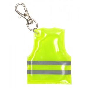 Přívěšek na klíče s mini reflexní vestou, žlutá