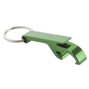 Klíčenka s otvírákem, zelená