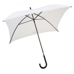 Čtvercový deštník, bílá