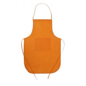 Kuchyňská zástěra, oranžová