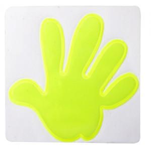 Reflexní nálepka - ruka, žlutá