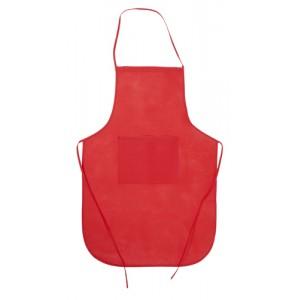 Kuchyňská zástěra, červená