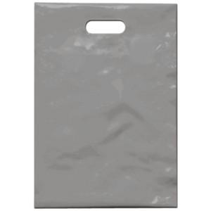 PE taška 35x50 cm, stříbrná