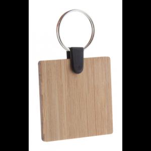 čtvercový přívěšek na klíče z bambusu