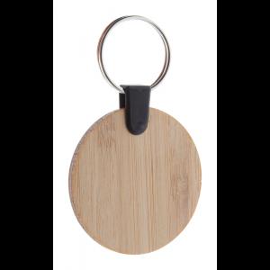 kulatý přívěšek na klíče z bambusu