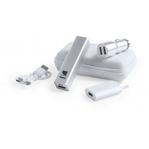 sada USB nabíječky a power banky