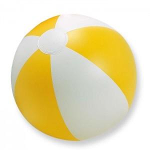 Nafukovací plážový míč, žlutý,průměr 24,5 cm