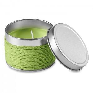 Vonná svíčka, světle zelená