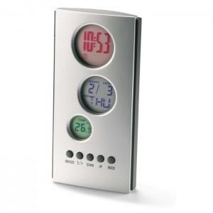 Multifunkční LCD displej, stříbrný