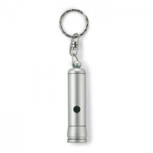 Klíčenka s baterkou, stříbrná
