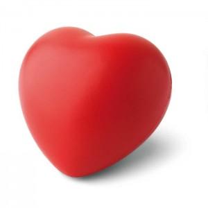 Antistres srdce, červená