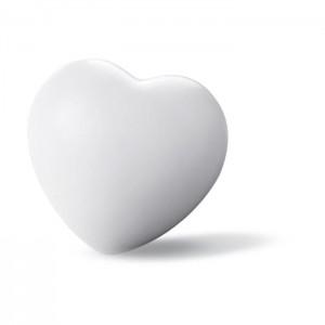 Antistres srdce, bílá