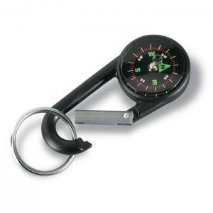 Klíčenka s kompasem, černá