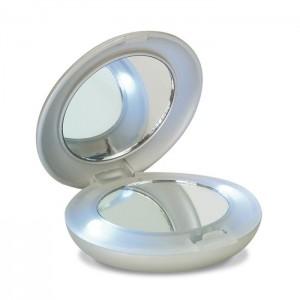 Zrcátko s LED světlem, stříbrné