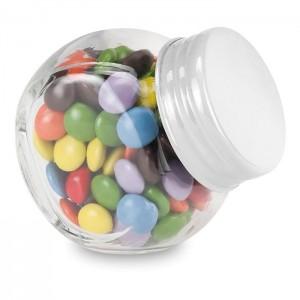 30 gramů čokoládek v skleněné dóze, bílá