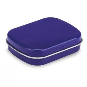 Plechovka s 28 g bonbónů, modrá